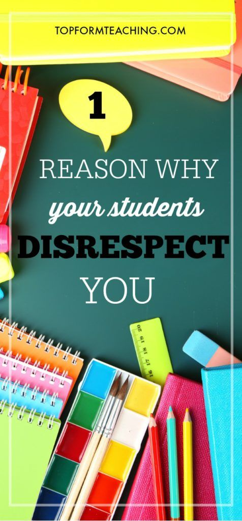 It may be time to take a step back and look at yourself through the eyes of your students. One reason why your students disrespect you may be surprising.