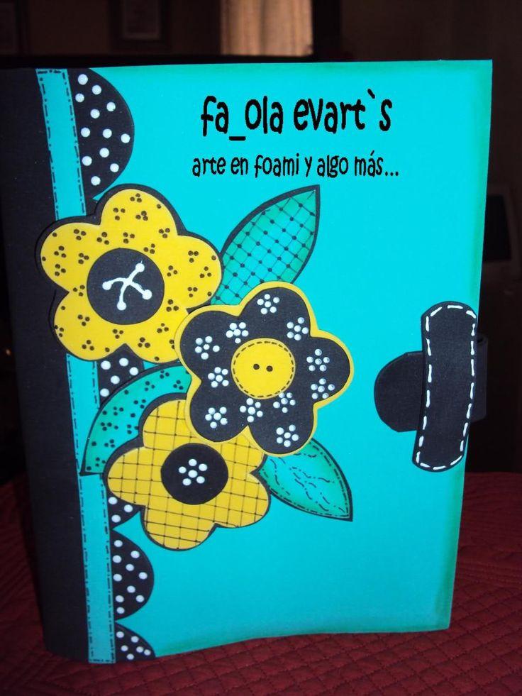 cuadernos decorados en foami - Buscar con Google