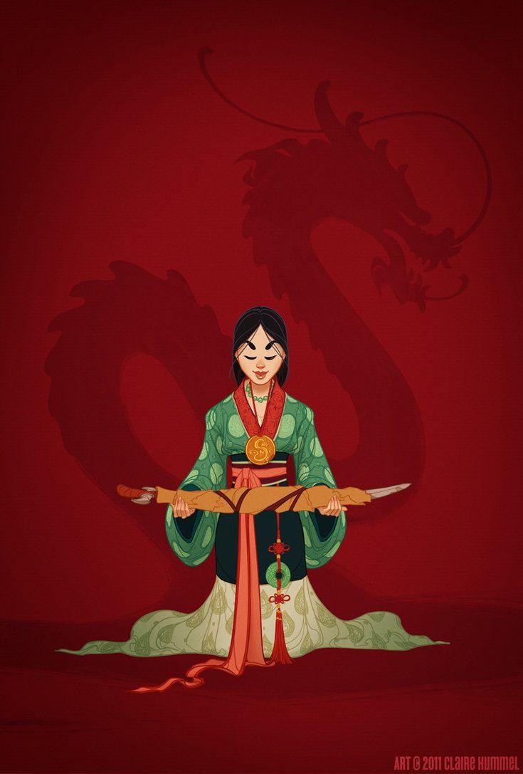 Mulan -- Historical Disney Princess: Historically Accurate, Disney Princesses, Accurate Disney, Art, Illustration, Costume, Claire Hummel, Disneyprincess, Accurate Mulan