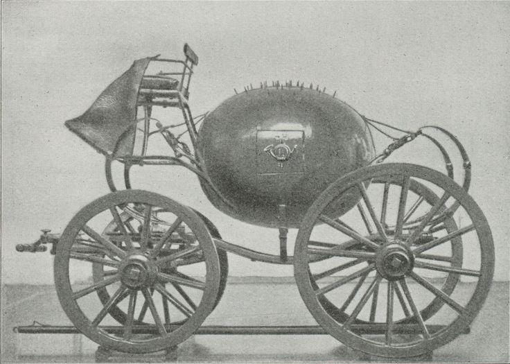 Kuglepostvogn. (Efter Model [1/6 Størrelse] i Postmuseet.)