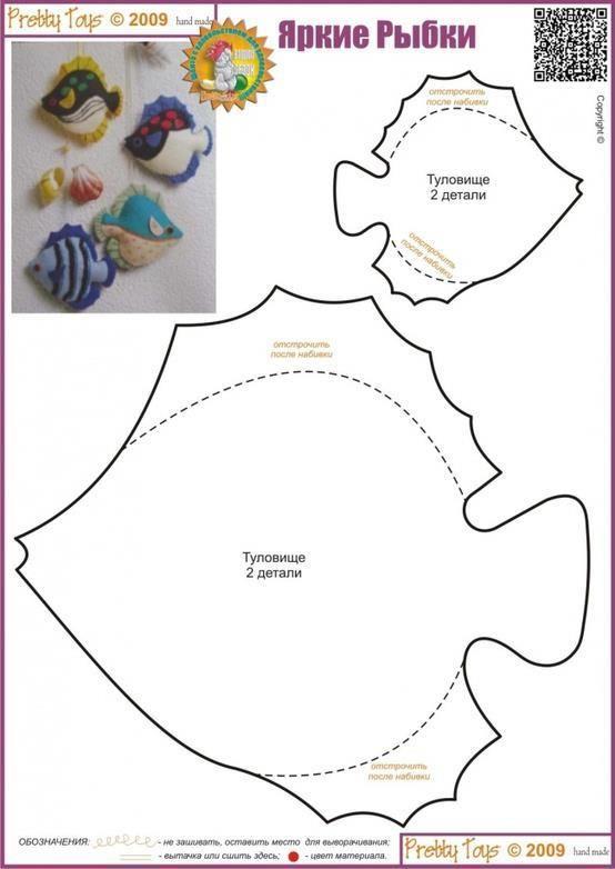 ARTE COM QUIANE - Paps,Moldes,E.V.A,Feltro,Costuras,Fofuchas 3D: Molde Peixe de Feltro