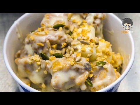 경주 중앙시장 야시장 길거리 음식 / 크림닭강정(Korean Fried Chicken with Cream Sauce) / Korean Street Food - YouTube