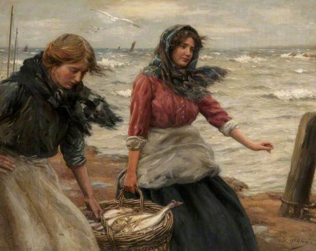 John McGhie (1867 – 1952, Scottish) - Fresh from the Sea, c. 1911 http://www.pinterest.com/marimonte58/au-bord-de-la-mer/