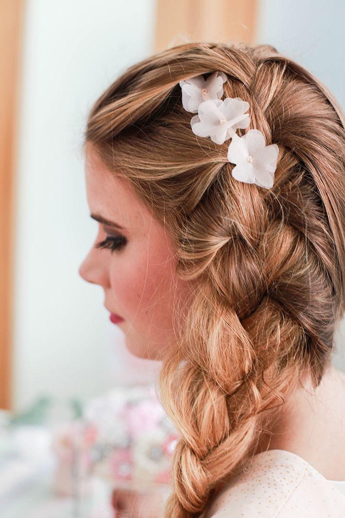 Hochzeitsdeko In Pastellfarben  Friedatheres.com braided hair bride ...