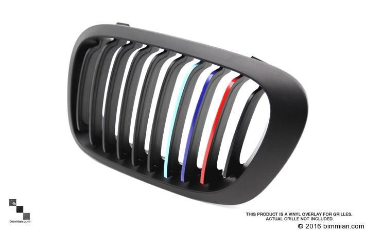 M-Colored Grill Stripe Decals for BMW Vehicles [BIMMIAN]