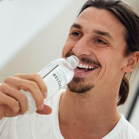 Zlatan enjoying Vitamin Well Reload