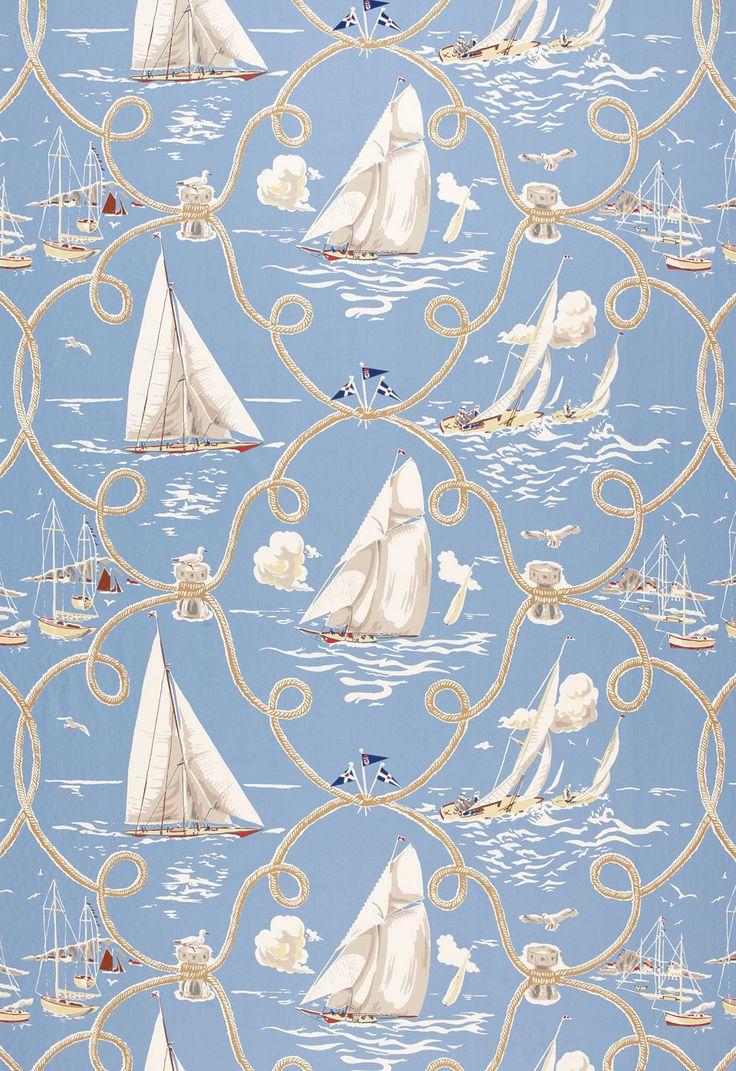 European style office furniture valentineblog net - Fabric Summer Regatta In Water Schumacher