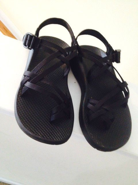 Chaco Sandals Shoes Black Womens Ladies Strappy Size 8