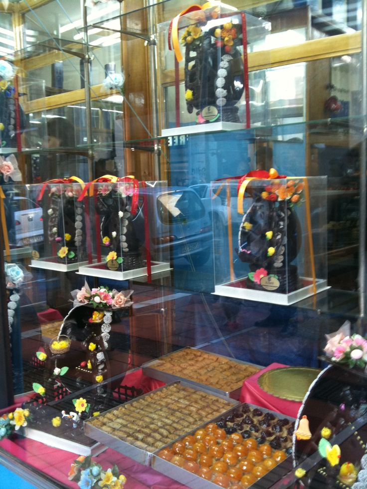 typical patisserie window display (easter)