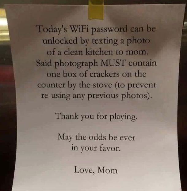 When this mom was preparing to go out for the day, but wanted to return home to a clean kitchen, she decided to leave her kids a note. However, it wasn't just a request...