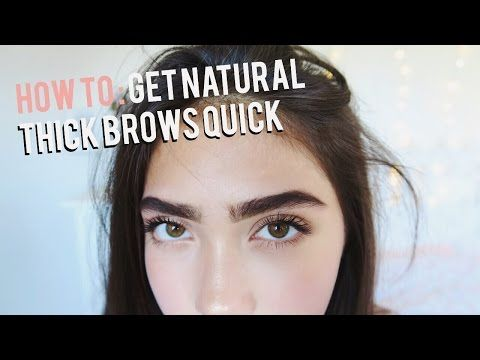 how to make your eyebrows look thicker naturally