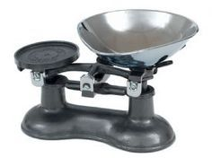 Victor Traditional Cast Iron Kitchen Scales in Graphite