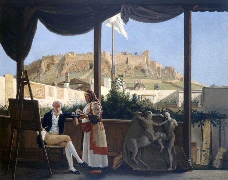 L'Acropolis. Vu de la Maison du Consul de France Mr Fauvel, 1825