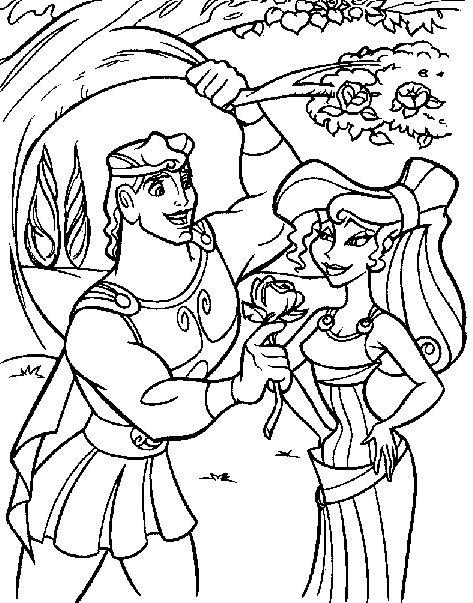 84 (na) pinakamagandang larawan ng Disney Hercules coloring pages ...