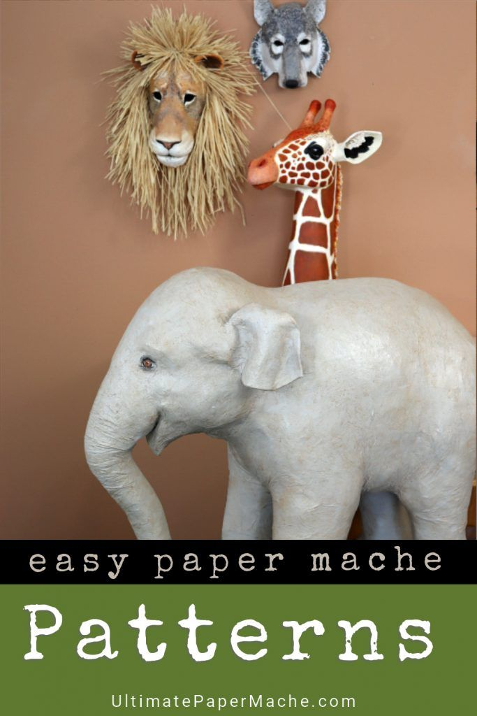Four Armature Patterns For Animal Sculptures And Masks Paper