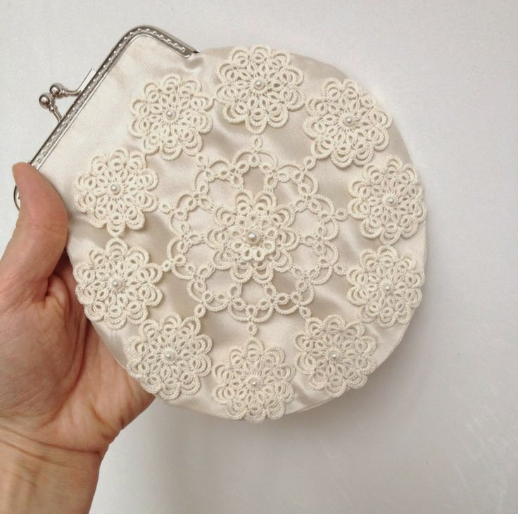 Tatted purse