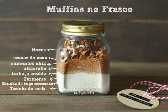 Muffins no frasco