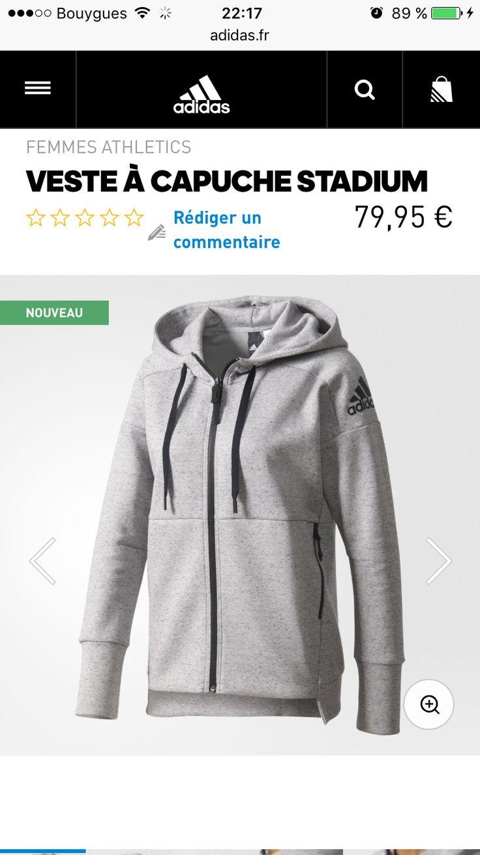 VESTE SPORT ADIDAS - STADIUM - 80€