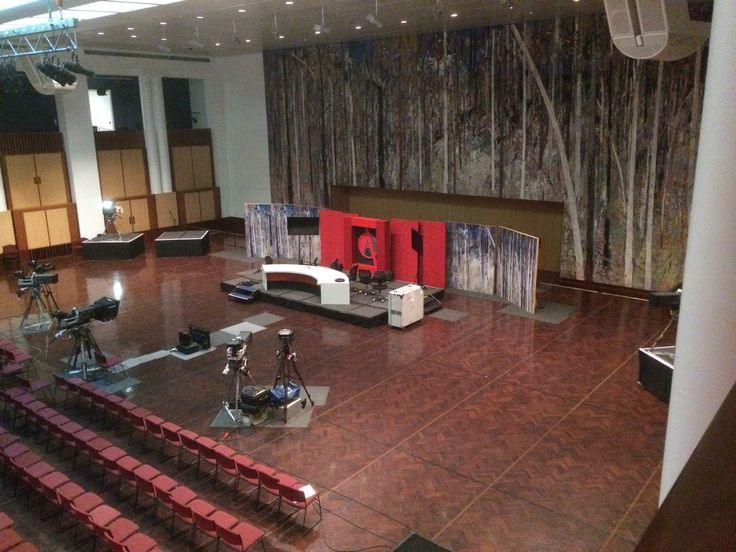 The QandA set, the Great Hall, Parliament House, Canberra.