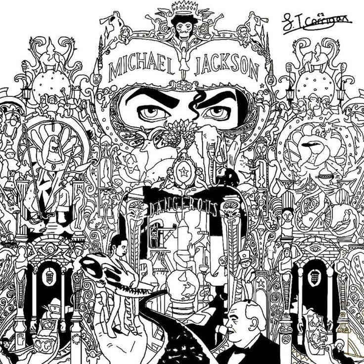 Free Coloring Page Michael Jackson Dangerous The Beautiful Cover Of Worldwilde Best Selling Album And His Multiple