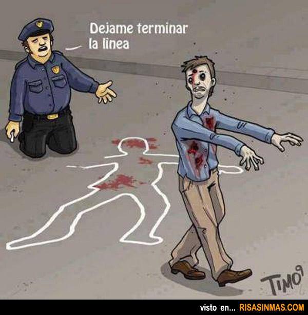 Los zombies no dejan hacer bien el trabajo a la policía.