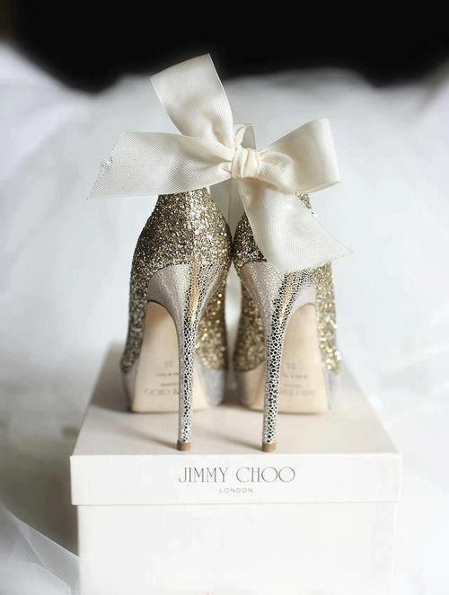 <3 sparkly wedding shoes by jimmy choo <3