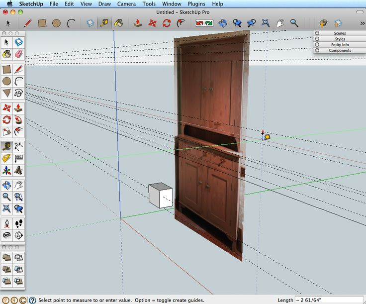 sketchup woodworking models 1
