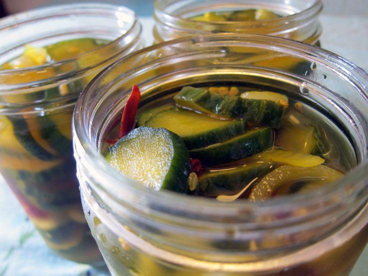 salt cucs for a few hours in fridge for extra crisp pickles