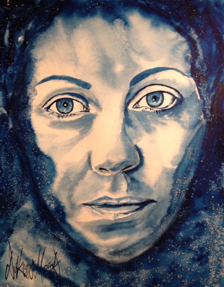 Siren, watercolour by Dakeno Mark, 2015