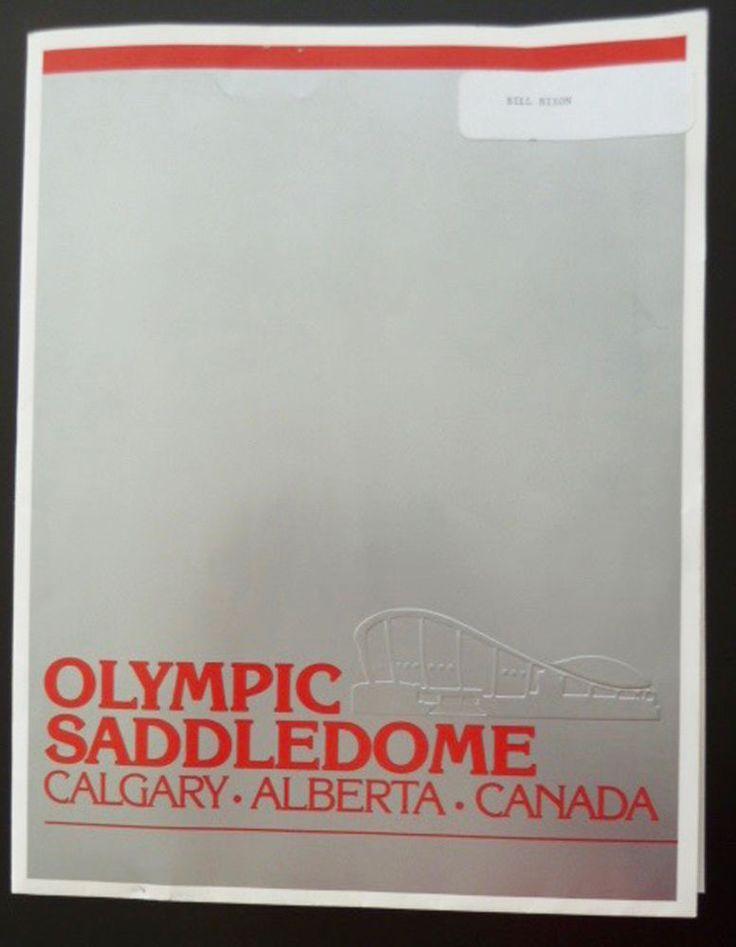 Olympic Saddledome Calgary Press Photo Opening Ceremonies Folder Brochure 1983