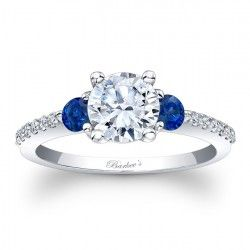 Blue Sapphire Engagement Ring 7539LBSW