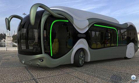 """Beetle bus"" New Hungarian bus design - Hungarian engineer Peter Simon diploma project."