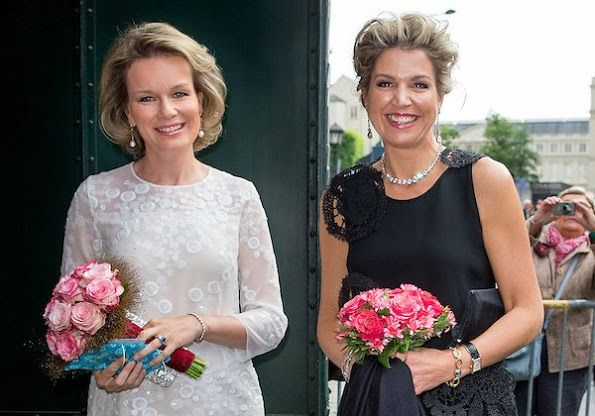 On May 25, 2016, Queen Mathilde of Belgium and Queen Maxima of The Netherlands attend the finals of the Queen Elisabeth piano competition in Palace of Fine Arts, Brussels, Belgium. The international competition aims to help talented young musicians at the launch of an international career by giving them the chance to perform for a very wide audience.