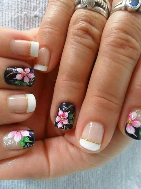 Pin de erika kersten en pretty black nails u as - Modelo de unas pintadas ...