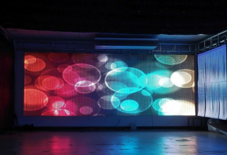 Flexible Led Video Curtain Display Soft Led Cloth Screen