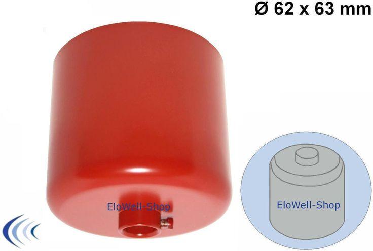 Leuchen Baldachin Messing Ø62x63mm zylindrisch rot RAL3001 m.Stellring 10er Rohr