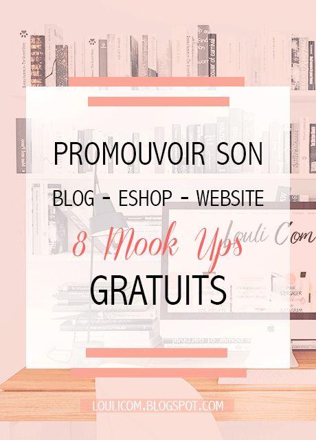 Sélection de 8 Mook ups gratuits à personnaliser pour promouvoir votre blog, site internet ou eshop. Utile pour votre stratégie communication et marketing