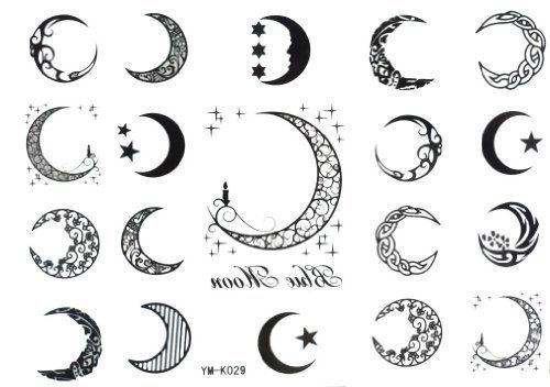 Pinterest the world s catalog of ideas for Moon and star tattoo designs