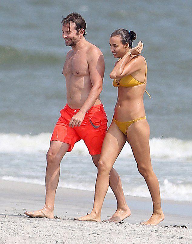 Bradley Cooper and his girlfriend Irina Shayk during their ... Bradley Cooper