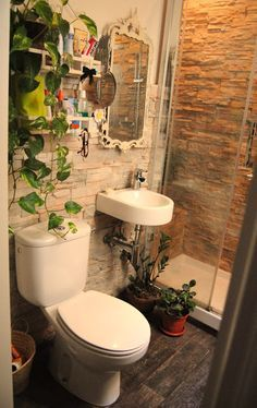 17 best ideas about ba os rusticos peque os on pinterest - Ideas decoracion banos pequenos ...