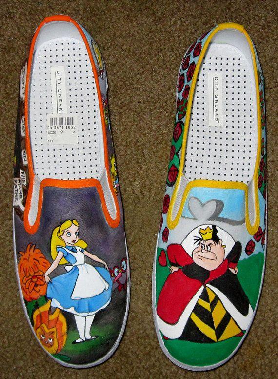 Custom Disney Animation Inspired Adult Shoes by littlepennylane