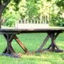 Fancy X Farmhouse Table- plans to make your own table for around $65