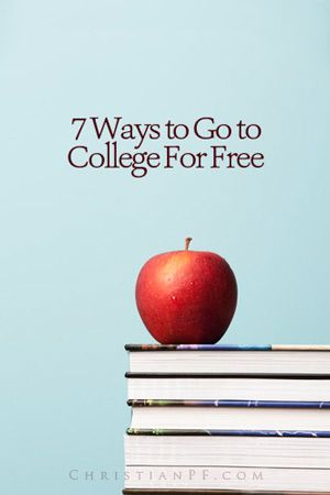 Want to go to #college for free? These are 7 real and legit ways that you could actually do just that ...Tuition. Fees. Books. It all adds up! College can be ridiculously expensive, but it doesn't have to be. Don't accept the idea that you're going to pay an arm and a leg for college. You can go to college for free....