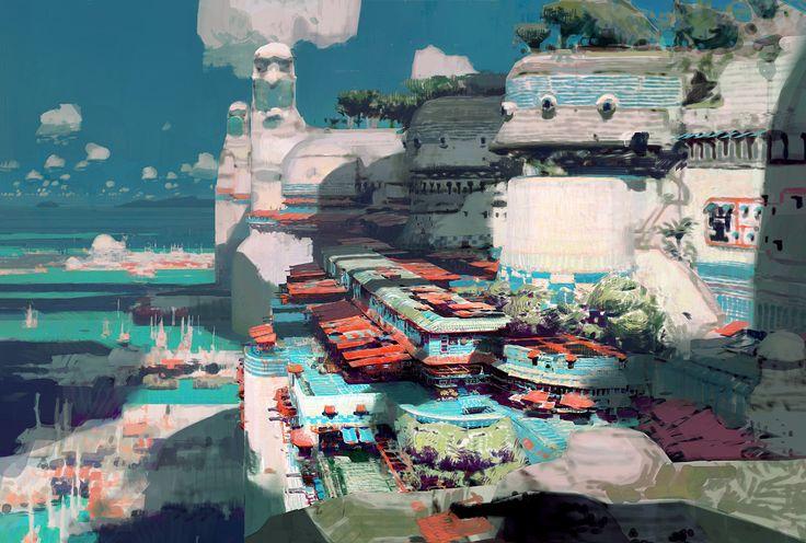 New Lion's Arch - Guild Wars 2, Theo Prins on ArtStation at https://www.artstation.com/artwork/8mOEx
