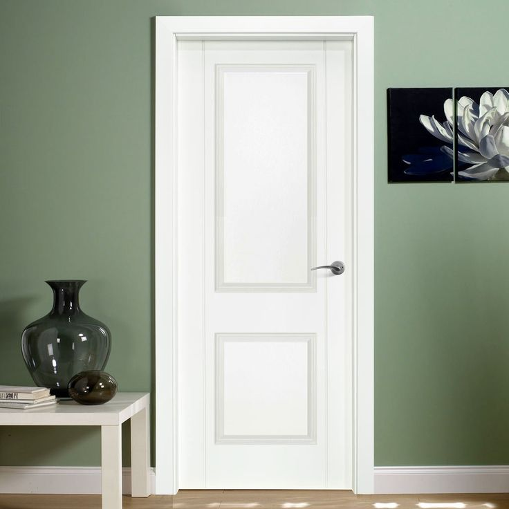 Valletta 2 Panel White Composite Prefinished Doorset with 110mm Broad Frame. #internalwhitedoorset #internalwhitedoor #internaldoor