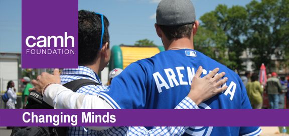 July edition of CAMH Foundation's Changing Minds eNewsletter, featuring the #TorontoBlueJays!