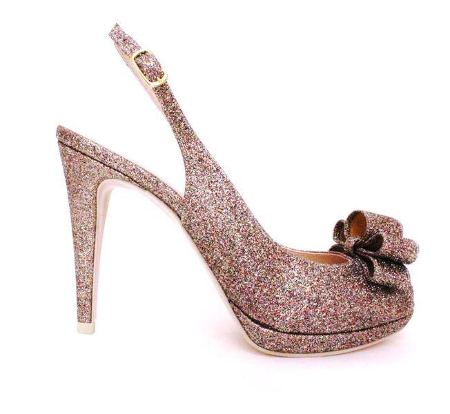 Glitter scarpe da sposa. www.ateliersanvalentino.it