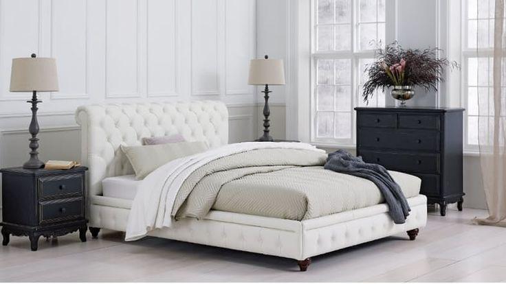 Simon Leather Bed Frame | Domayne