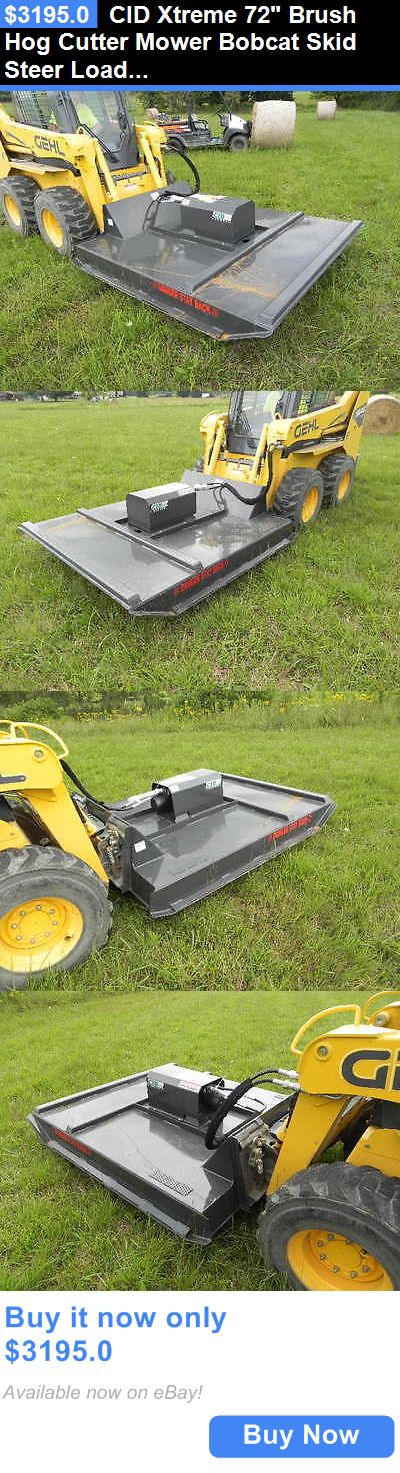 heavy equipment: Cid Xtreme 72 Brush Hog Cutter Mower Bobcat Skid Steer Loader Cat Asv Deere !!! BUY IT NOW ONLY: $3195.0