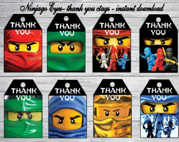 Druckbare Ninjago Augen Danke Tags Ninjago Party Ninjago